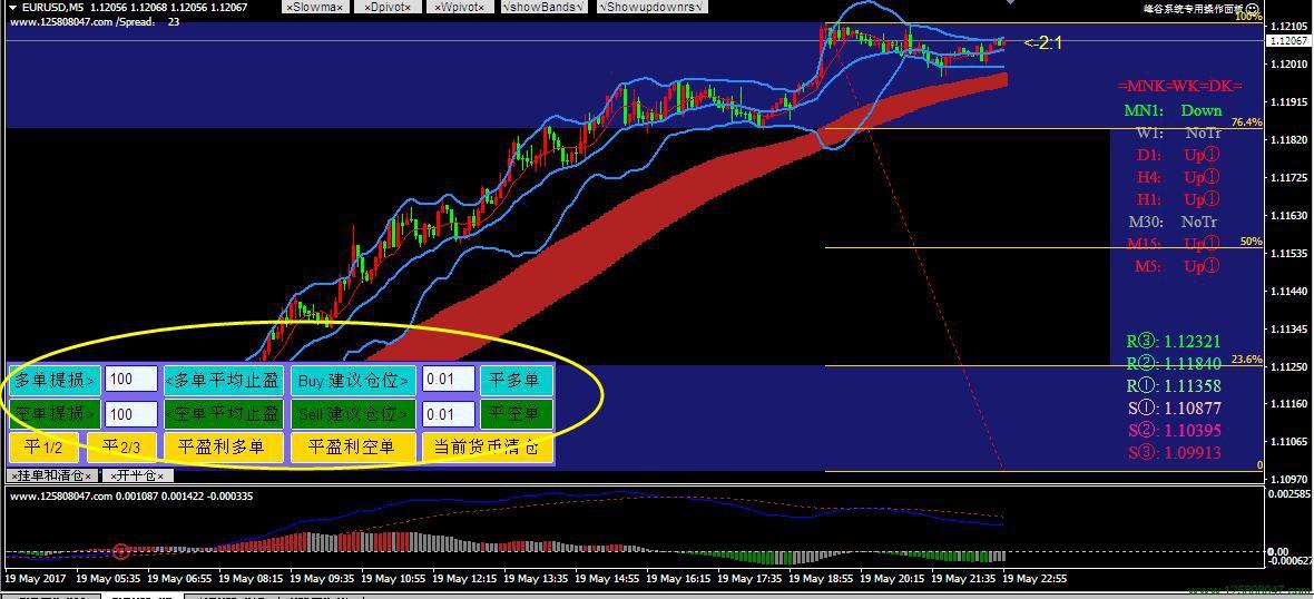 峰谷外汇交易系统专用操作面板EA