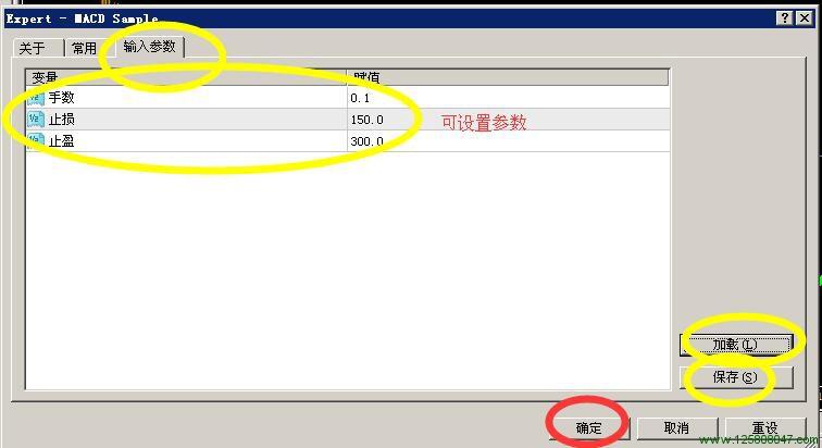 MT4设置文件的保存和加载