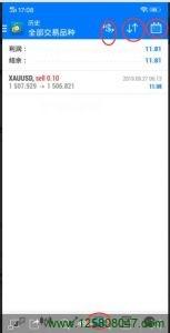 mt4手机端的账户历史界面